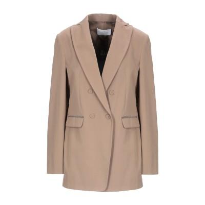 ファビアナフィリッピ FABIANA FILIPPI テーラードジャケット サンド 42 コットン 100% / エコブラス テーラードジャケット