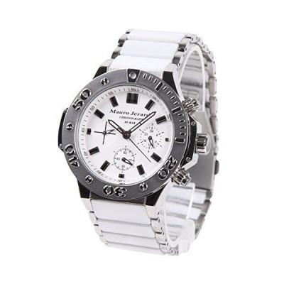 マウロジェラルディ 腕時計 クロノグラフ セラミック MJ027-4 ホワイト