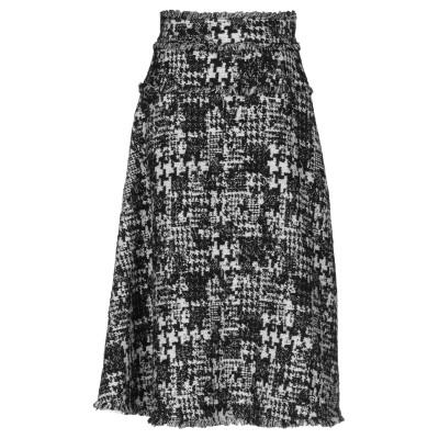 ドルチェ & ガッバーナ DOLCE & GABBANA 7分丈スカート ブラック 42 アクリル 50% / ウール 38% / ポリエステル 1