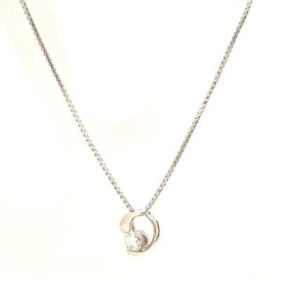 ペンダント プラチナ900 プラチナ850 ダイヤモンド 0.33ct レディース ジュエリー