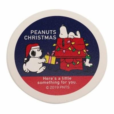 スヌーピー コースター 磁器製 吸水コースター プレゼントブラザー XMAS ピーナッツ クリスマスプレゼント メール便可