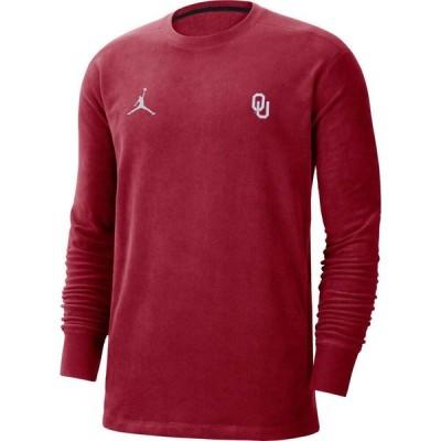ナイキ ジョーダン Jordan メンズ 長袖Tシャツ トップス Oklahoma Sooners Crimson Coach Crew Long Sleeve T-Shirt