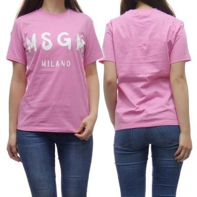 MSGM エムエスジーエム レディースクルーネックTシャツ 2841MDM60 207298 ピンク