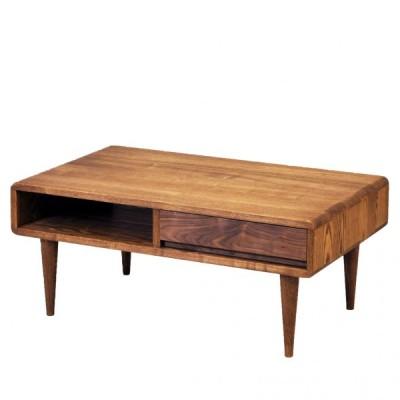 木製 おしゃれ 北欧 リビングテーブル 85 エディンバラ ダーク
