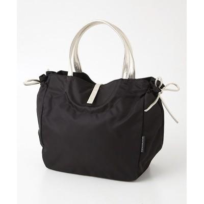 brontibayparis/ブロンティベイパリス A4ナイロントートバッグ「フローレンス」 ブラック*ゴールド F