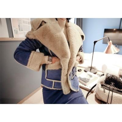 【送料無料】 💚NEWタイプ登場暖かい春の準備💚 韓国ファッション 短いスタイル プラスベルベット 厚手 レザー 女性 コート 暖かい