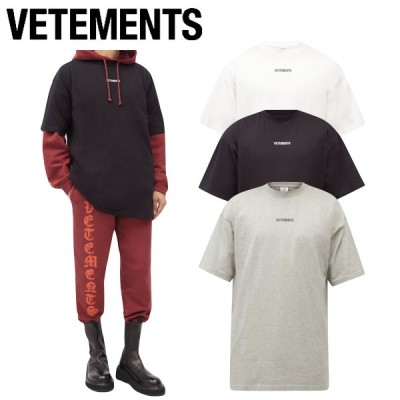 【3colors】VETEMENTS Logo Cotton T-Shirt Mens 2021SS ヴェトモン ロゴ コットンTシャツ 3カラー メンズ 2021年春夏