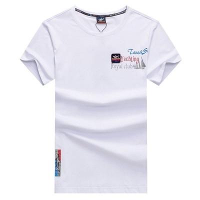 Tシャツ メンズ 半袖 英文字 プリント クルーネック ストレッチ 夏物 カジュアル ビジネス対応