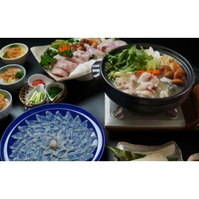 【H4-001】漁協直送!とらふぐ刺身とちり鍋セット6~8人前(白子、茶漬け付)