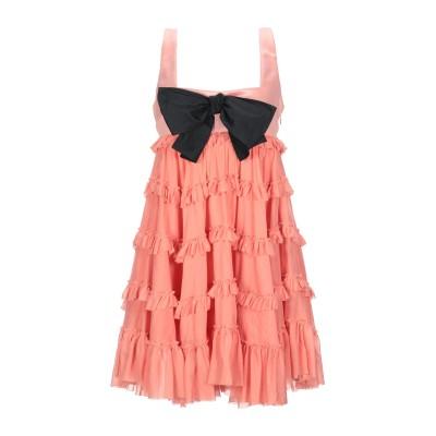 BROGNANO ミニワンピース&ドレス あんず色 40 コットン 72% / シルク 28% ミニワンピース&ドレス