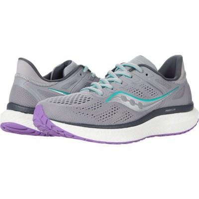 サッカニー Saucony レディース ランニング・ウォーキング シューズ・靴 Hurricane 23 Fog/Ultra Violet
