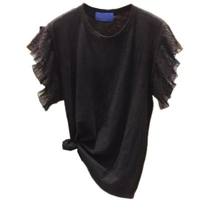 夏 新作 Tシャツ 縫付 ファッション オシャレ トップス