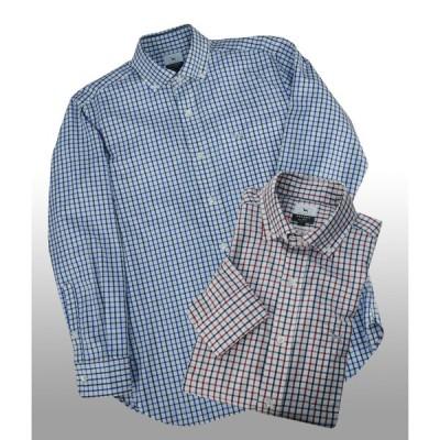 ケンコレクションクラシック 010001 ワイド衿ボタンダウンシャツ | レッド・ブルー