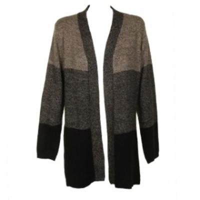 Scott  ファッション トップス Karen scott brown color block turbo shaded cardigan l