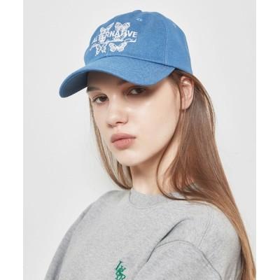 A'GEM/9 × .kom / A'GEM/9 × .kom 『LUV IS TRUE/ラブ イズ トゥルー』OT BUTTERFLY BALL CAP/バタフライ ボール キャップ WOMEN 帽子 > キャップ