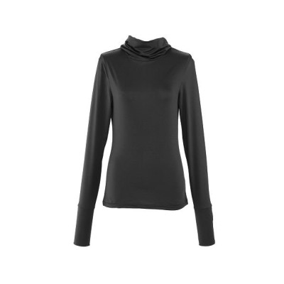 【バックヤードファミリー】 ストレッチUVロング Tシャツ サラリ レディース ブラック 2L-3Lサイズ BACKYARD FAMILY