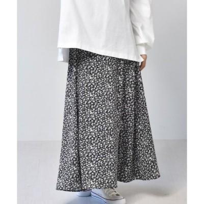 スカート 柄マーメイドスカート