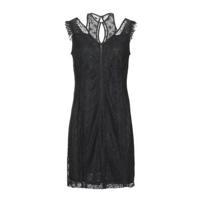 ゲス GUESS ミニワンピース&ドレス ブラック XS 紡績繊維 ミニワンピース&ドレス