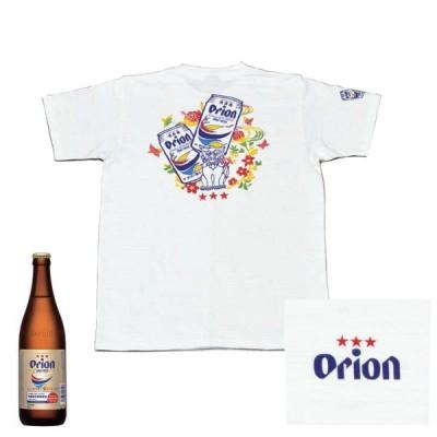 Tシャツ オリオンビール シーサー 酒造メーカー コラボシャツ 白 和柄 orion 半袖 綿100% 半そで ティーシャツ 送料無料