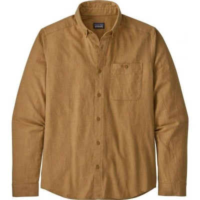 パタゴニア Patagonia メンズ シャツ トップス long-sleeved vjosa river pima cotton shirt Harvest Tan