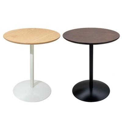 サイドテーブル ベッドテーブル ミニテーブル 丸テーブル ソファサイドテーブル おしゃれ シンプル 木目調 北欧 丸型 ラウンド リビング 寝室 φ45cm ホワイト