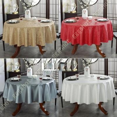 円形 テーブルクロス シンプル 撥水 テーブルカバー テーブルマット ブラウン まる型 レストラン カフェ 布 厚手 お手入れ簡単 ダイニング キッチン 防塵
