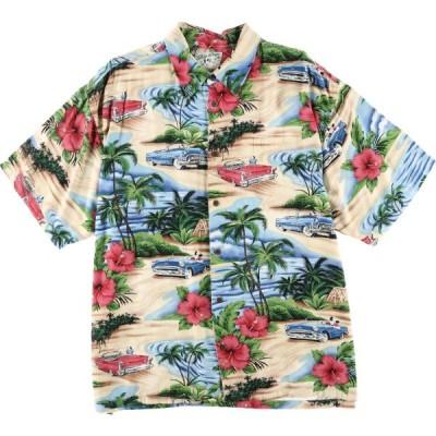 BIG DOGS レーヨン ハワイアンアロハシャツ メンズXL /eaa035541