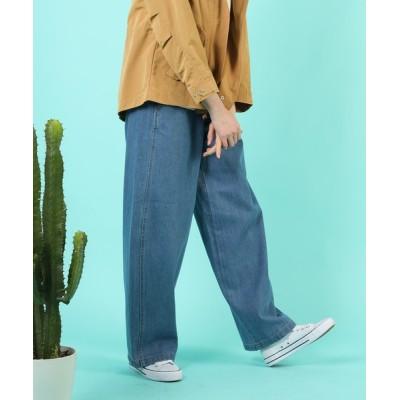 aimoha / ハイウエストカーブパンツ WOMEN パンツ > デニムパンツ