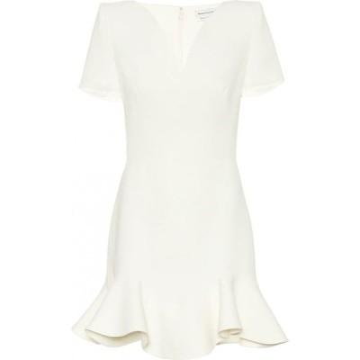 アレキサンダー マックイーン Alexander McQueen レディース パーティードレス ワンピース・ドレス wool-blend minidress Ivory