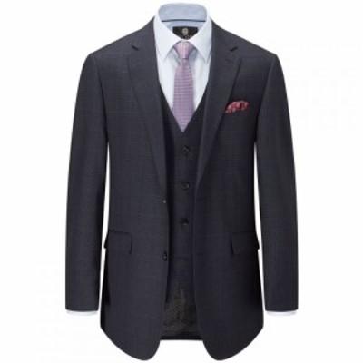 スコープス Skopes メンズ スーツ・ジャケット アウター Herriot Check Suit Jacket Navy