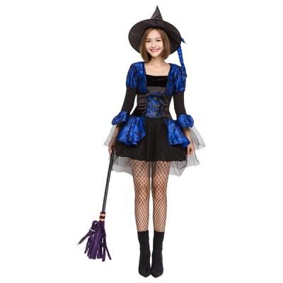 ハロウィン コスプレ 魔女 ウィッチ コスチューム 大人用 カワイイ 魔法使い セクシー コスプレ 仮装 レディース 2着以上送料無料