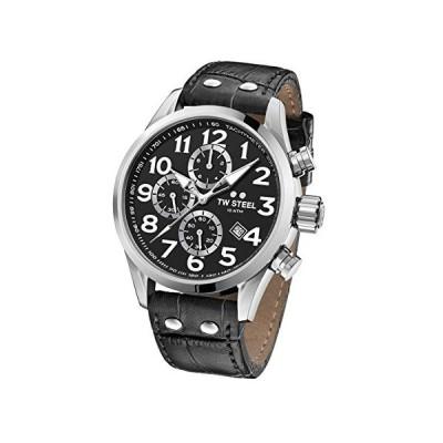 TW Steel Unisex Adult Chronograph Quartz Watch with Leather Strap VS54 並行輸入品
