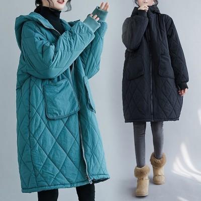 中綿ジャケットレディース ブルゾン ダウンジャケット 中綿入り ゆったり 大きいサイズ レディースジャケット 暖かい 秋冬アウター/二枚