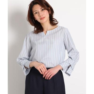 SunaUna(スーナウーナ) 【洗える】ストライプブロードシャツ
