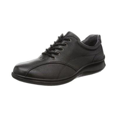 [アキレスソルボ] ウォーキングシューズ 国産 本革 衝撃吸収 屈曲性 クッション性 歩きやすい レディース (ブラック 23.5 cm 3E)