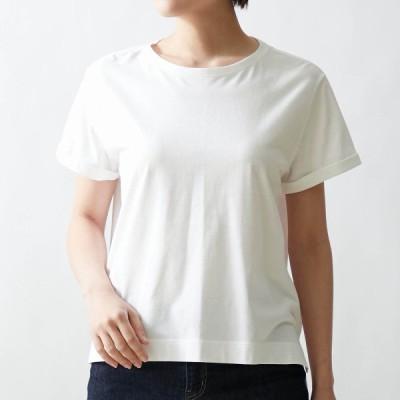 サラリスト 丸みを隠す大人仕立てTシャツ オフホワイト S M L LL 3L