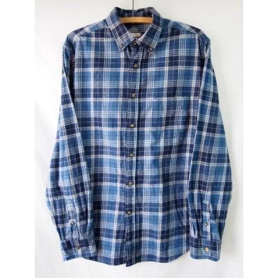 an05808/送料無料/MERONA/コットンボタンダウンチェックシャツ/M