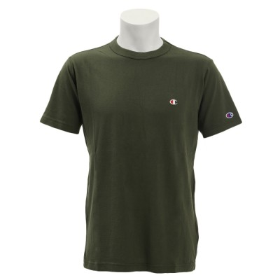 チャンピオン-ヘリテイジウェアTシャツ 半袖 BA ワンポイント C3-P300 570 カットソー ダークグリーン