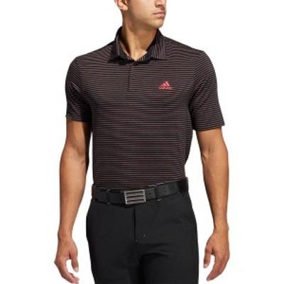 アディダス メンズ シャツ トップス adidas Men's Ultimate365 Space Dye Stripe Golf Polo Black/Power Pink