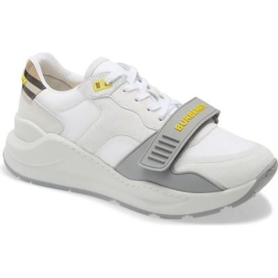 バーバリー BURBERRY メンズ スニーカー シューズ・靴 Ramsey Sneaker White