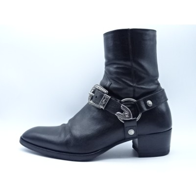 SAINT LAURENT PARIS 19ss WYATT HARNESS BOOTS Size-41.5 サンローランパリ ブーツ 大名店【中古】