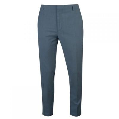 カルバンクライン Calvin Klein メンズ スラックス ボトムス・パンツ Two Tone Wool Tropical Suit Trousers Blue