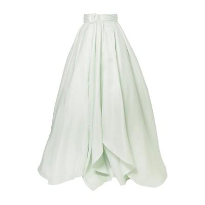 BRANDON MAXWELL ロングスカート ライトグリーン 6 シルク 100% ロングスカート