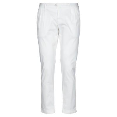 DOMENICO TAGLIENTE パンツ ホワイト 50 コットン 97% / ポリウレタン 3% パンツ