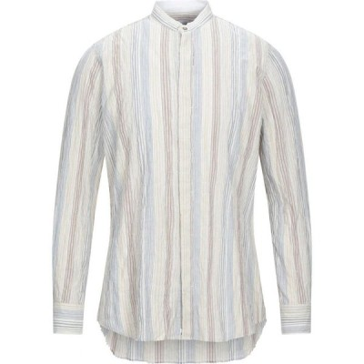 オフィチーナ トレンタ セイ OFFICINA 36 メンズ シャツ トップス Striped Shirt Slate blue