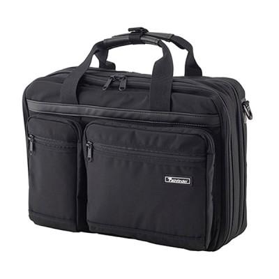 [パスファインダー]3ウェイ ダブルブリーフ PF1901 ブラック ビジネスバッグ/ブリーフケース