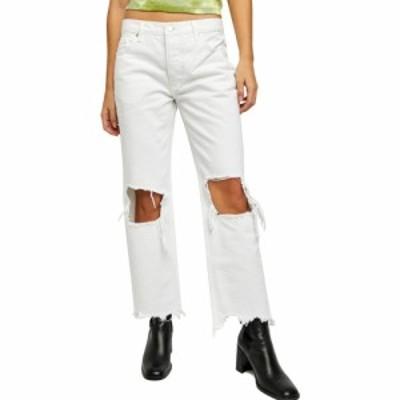 フリーピープル FREE PEOPLE レディース ジーンズ・デニム ダメージ加工 ボトムス・パンツ Maggie Mid Rise Ripped Straight Leg Jeans O