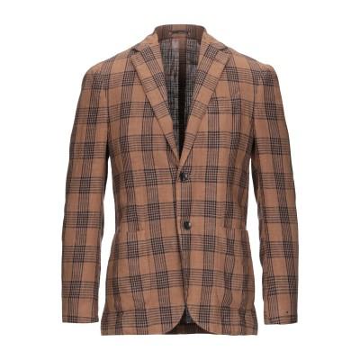 ラルディーニ LARDINI テーラードジャケット キャメル 46 リネン 80% / コットン 20% テーラードジャケット