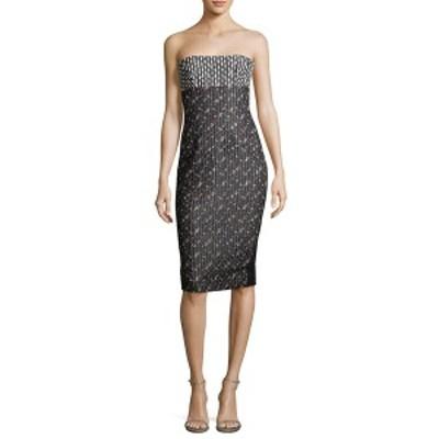 ヴィクトリア ベッカム レディース ワンピース トップス Victoria Beckham Floral Strapless Dress black multicolor