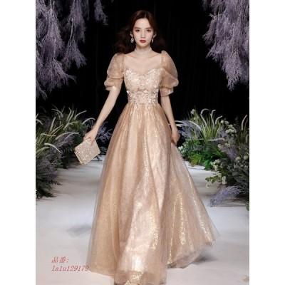 パーティードレス ワンピース ウェディングドレス 結婚式 成人式 パーティードレス 挙式 演奏会 エンパイア エレ花嫁ロングドレスお呼ばれ 誕生日